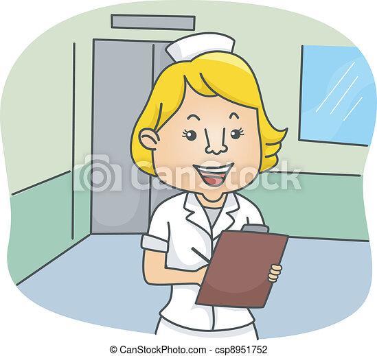 krankenschwester, weibliche  - csp8951752
