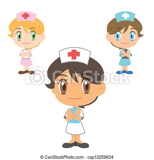 Schwester , Kartoon Charakter - csp12259634