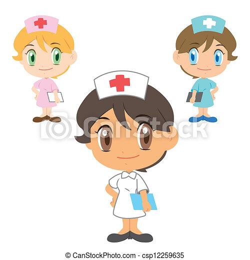 krankenschwester, zeichen - csp12259635