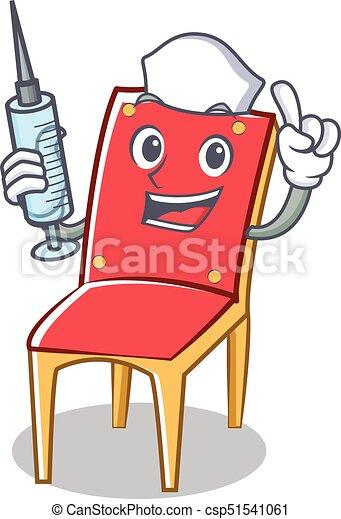 Krankenschwester Zeichen Stuhl Sammlung Karikatur