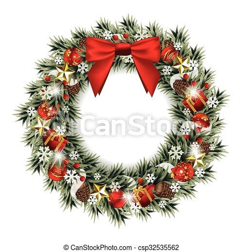 krans, kerstmis - csp32535562