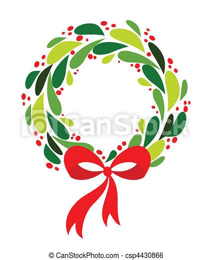 krans, kerstmis - csp4430866