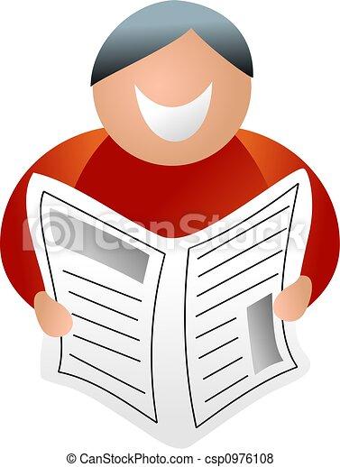krant, man - csp0976108