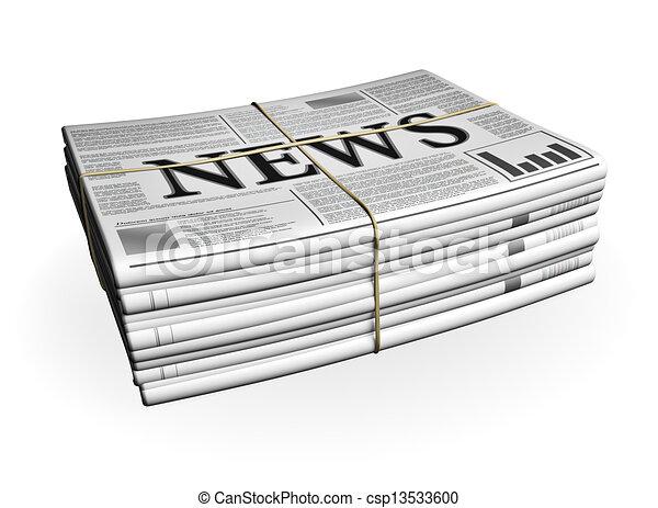 krant, stapel - csp13533600