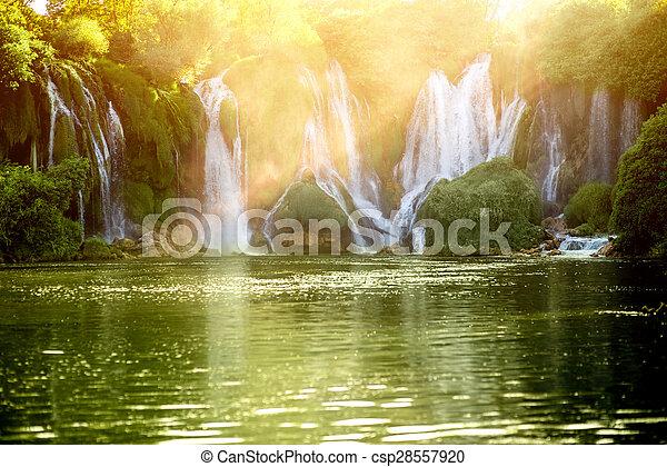 Kravica waterfall - csp28557920