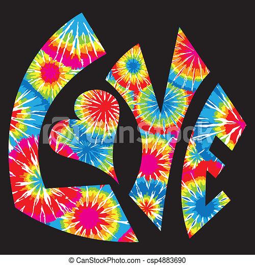krawat, symbol, miłość, farbowany - csp4883690