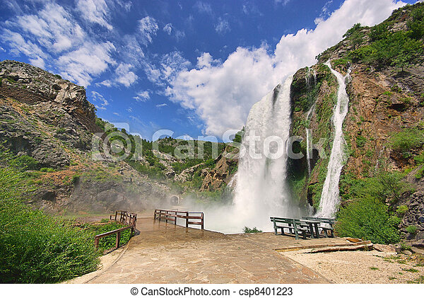 Krcic waterfall 14 - csp8401223