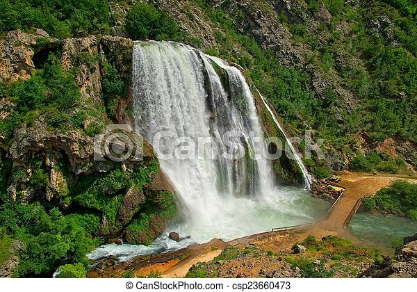 Krcic waterfall - csp23660473