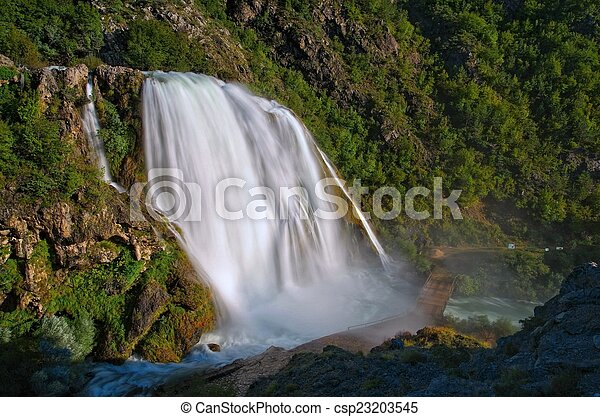 Krcic waterfall - csp23203545