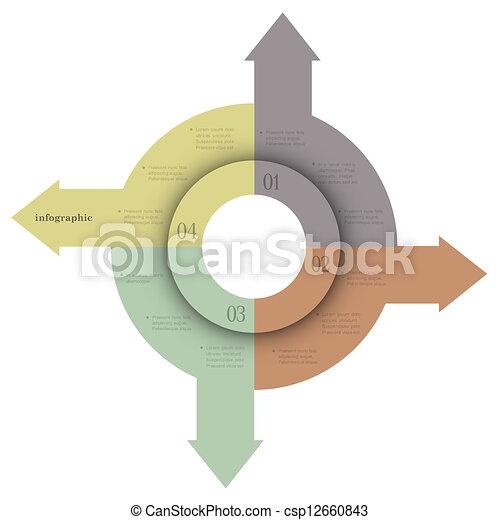 kreativ, design, banners-arrows, infographics - csp12660843
