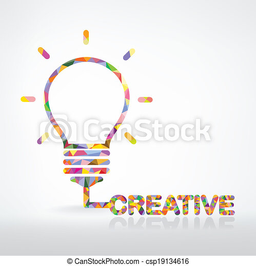 kreative, pære, lys, ide, begreb - csp19134616
