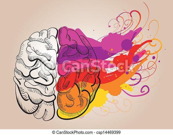 kreativitet, hjärna, begrepp, - - csp14469399