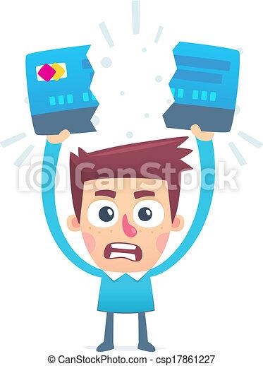 Probleme mit der Kreditkarte - csp17861227