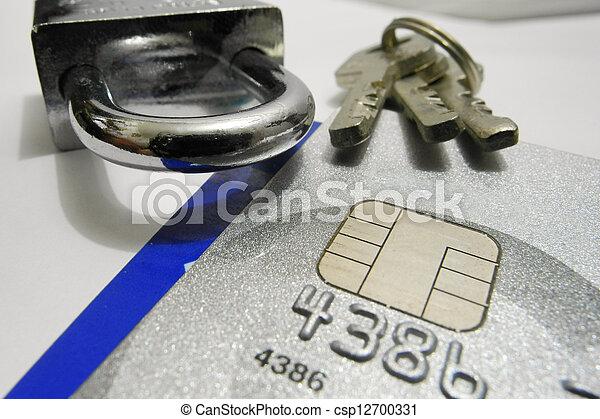 kredit, sicherheit, karte - csp12700331