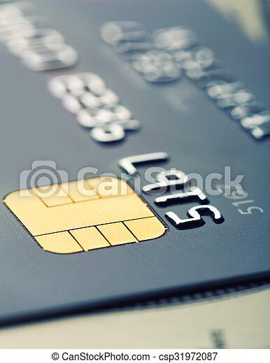 kredit, span, karte, mikro - csp31972087