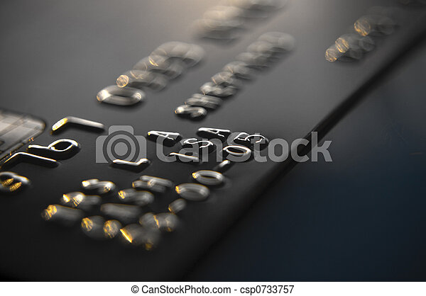 kreditkort, bankrörelse - csp0733757