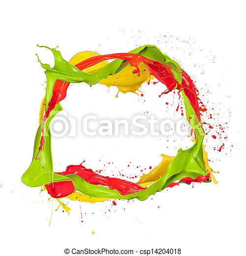 kreis, gefärbt - csp14204018
