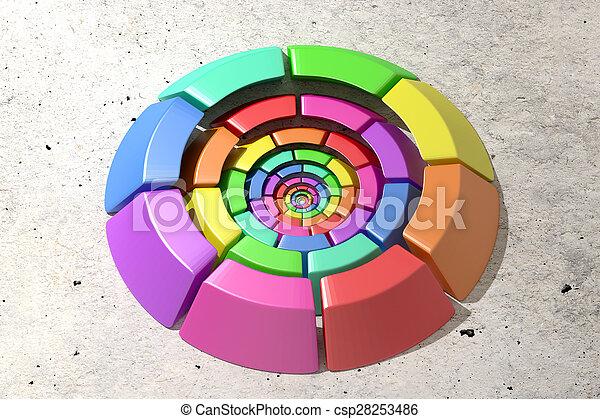 kreis, gefärbt - csp28253486