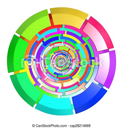 kreis, gefärbt - csp28214668