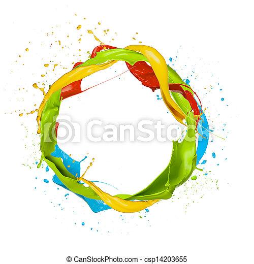 kreis, gefärbt - csp14203655