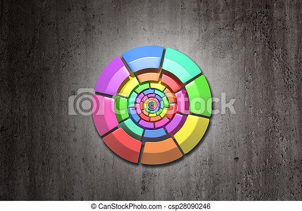 kreis, gefärbt - csp28090246