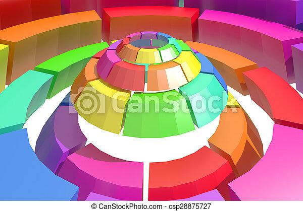 kreis, gefärbt - csp28875727