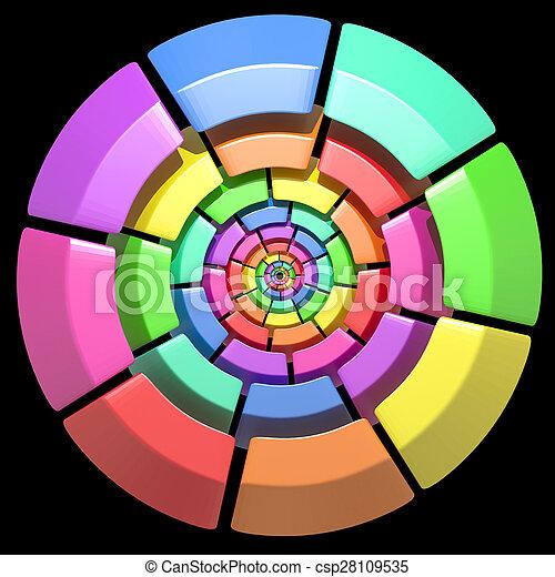 kreis, gefärbt - csp28109535