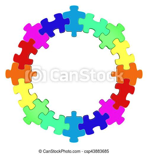 Buntes Kreis Puzzle - csp43883685