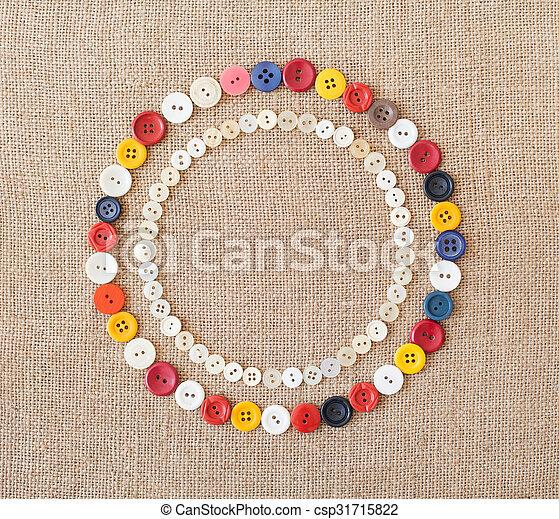 Kreise, buttons., hintergrund, nähen, bunte.