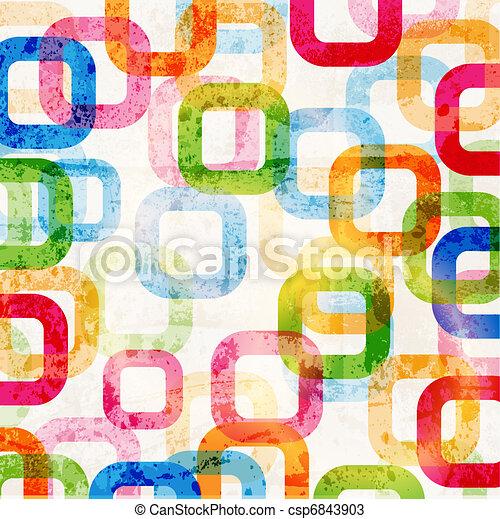 kreise, grafik, muster, abstraktes design, hintergrund, high-tech - csp6843903