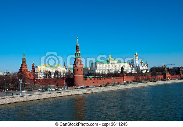Kremlin in Moscow, Russia. landmark - csp13611245