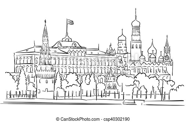 Moscow City Symbol. Travel Russia Icon Stock Illustration ... |Moscow City Coloring
