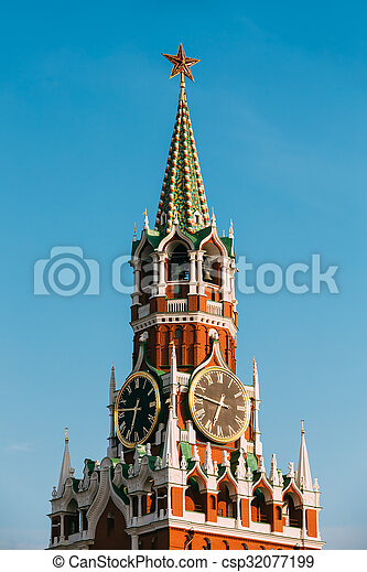 Kremlin, red square in Moscow, Russia - csp32077199