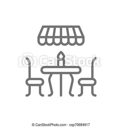 kreska, ulica, kawiarnia, icon., francuski - csp70684917