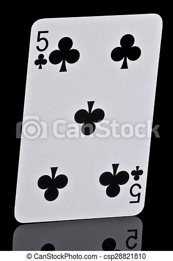 Kreuz Karte.Kreuz Fünf Spielen Karte