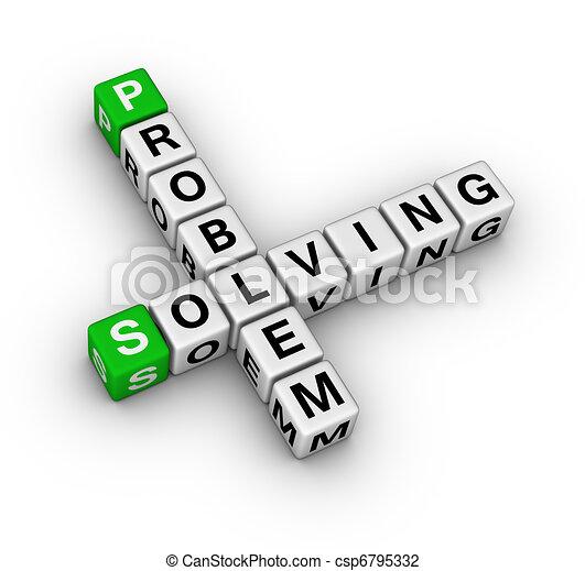 kreuzworträtsel, problem, lösen - csp6795332