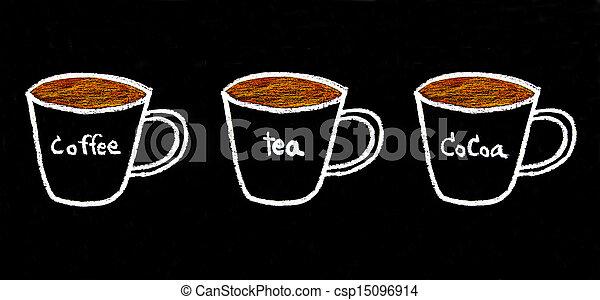 Kridt, skitse, kaffe te, kakao, sort vægtavle stock fotografering - Søg efter Billeder og Foto ...