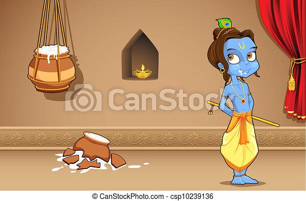 Krishana in Janmashtami - csp10239136
