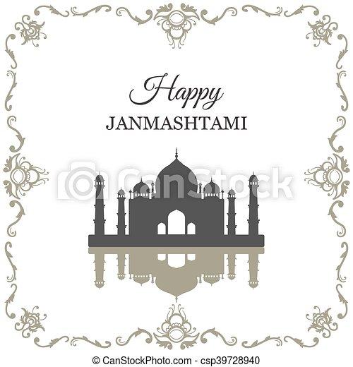 Krishna Janmashtami background - csp39728940