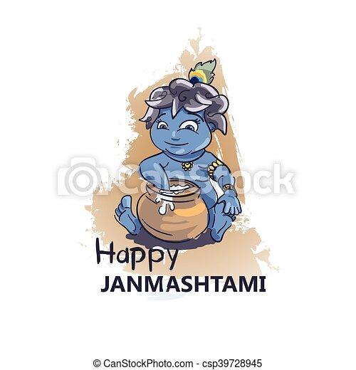 Krishna Janmashtami background - csp39728945