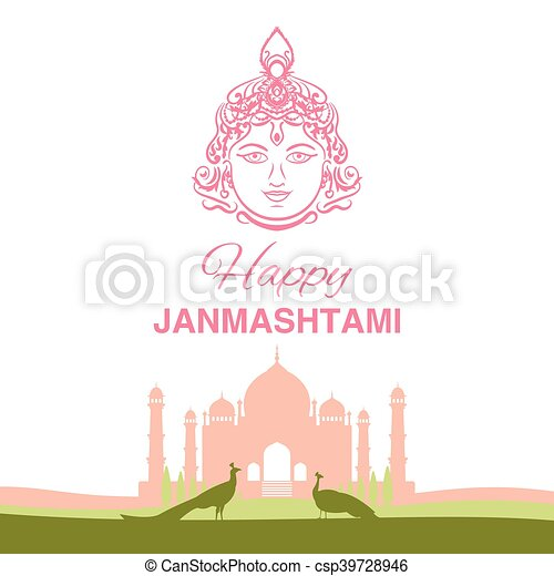 Krishna Janmashtami background - csp39728946