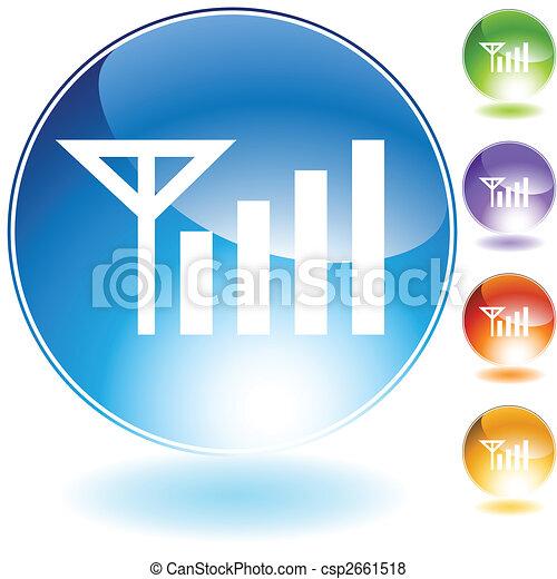 kristal, signaal, pictogram - csp2661518