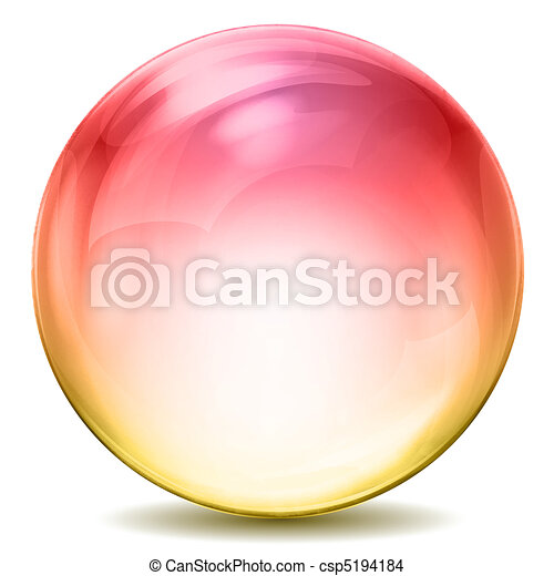 kristale bal, kleurrijke - csp5194184