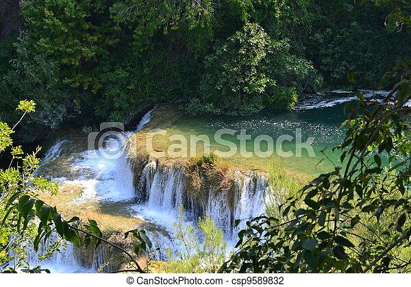 krka, 滝 - csp9589832