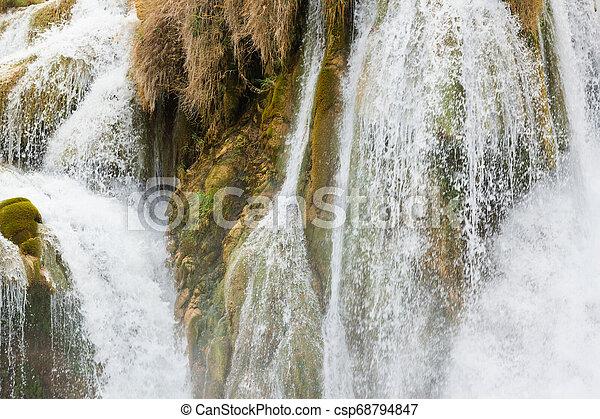 krka, spindrift, sibenik, -, wasserfall, krka, kroatien - csp68794847