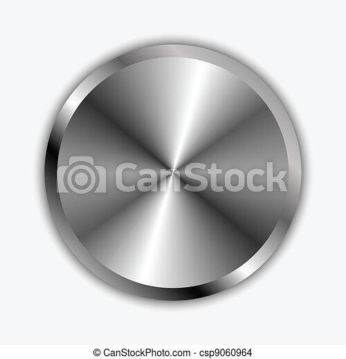 krom, knopp, vektor, illustration - csp9060964