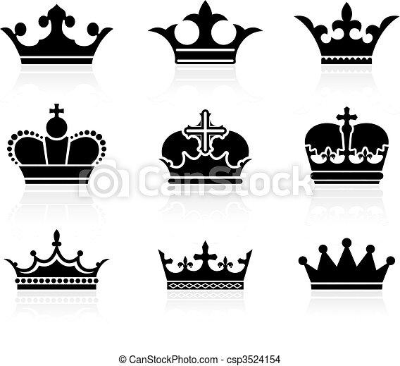 krone, design, sammlung - csp3524154