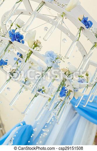Kronleuchter, blumen. Blumen, kronleuchter, bogen, wedding.