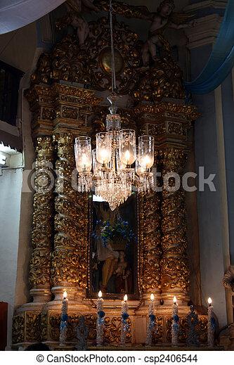 Kronleuchter, Kirche   Csp2406544