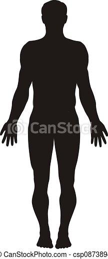 krop, silhuet, menneske - csp0873894